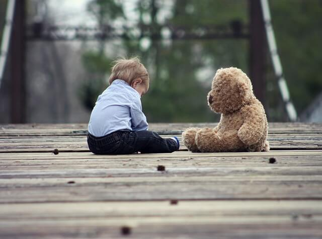 Lonely Child in a Divorce