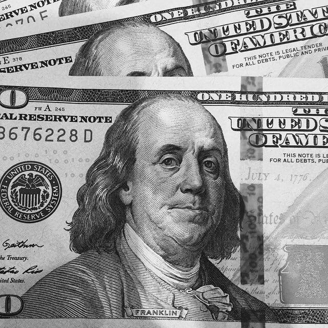 One Hundred Dollar Bill Close-Up